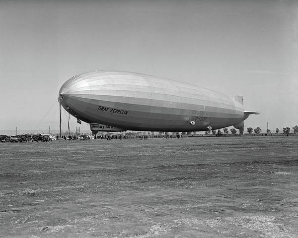 Security Service Photograph - 1920s German Rigid Airship Graf by Vintage Images