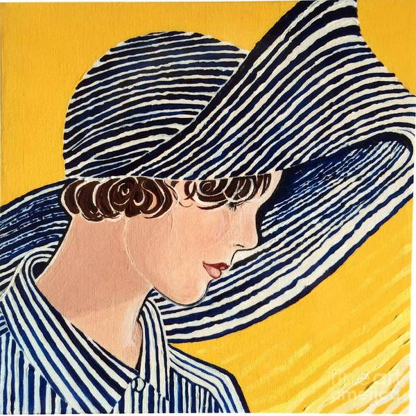 Daring Painting - 1920s Sun Hat by Barbara Chase