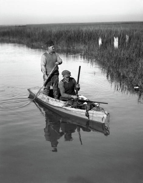 Space Gun Photograph - 1920s Two Men Duck Hunters by Vintage Images