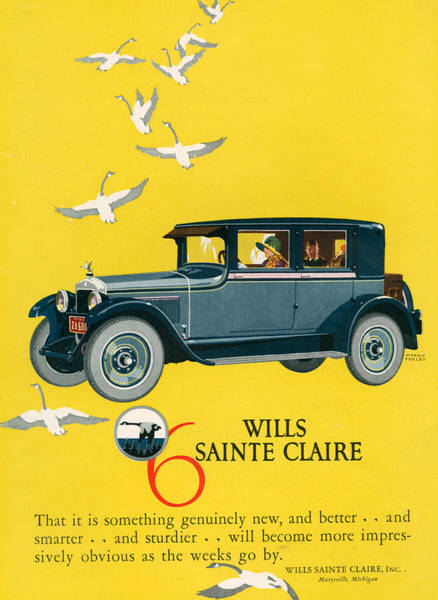 Wall Art - Photograph - 1920s Usa Wills-sainte Claire Magazine by The Advertising Archives