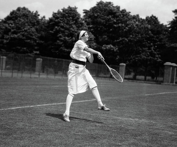 Freestyle Photograph - 1920s Woman Playing Tennis by Vintage Images