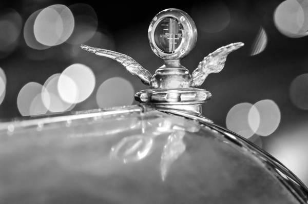 Photograph - 1921 Bentley Motometer Hood Ornament -0471bw by Jill Reger