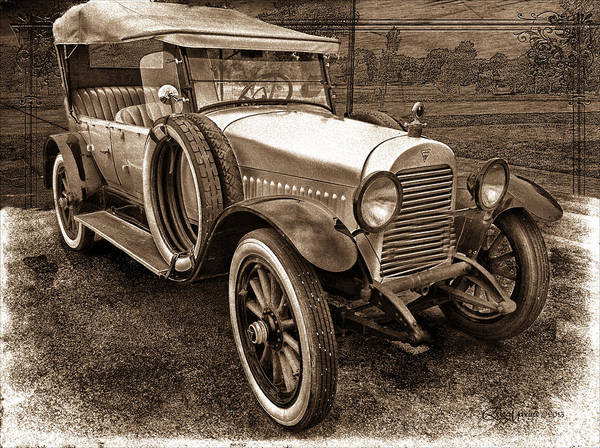 Photograph - 1921 Hudson-sepia by Ericamaxine Price