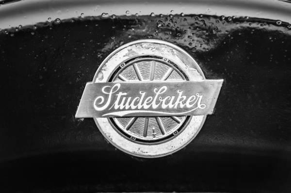Photograph - 1922 Studebaker Logo -0325bw by Jill Reger