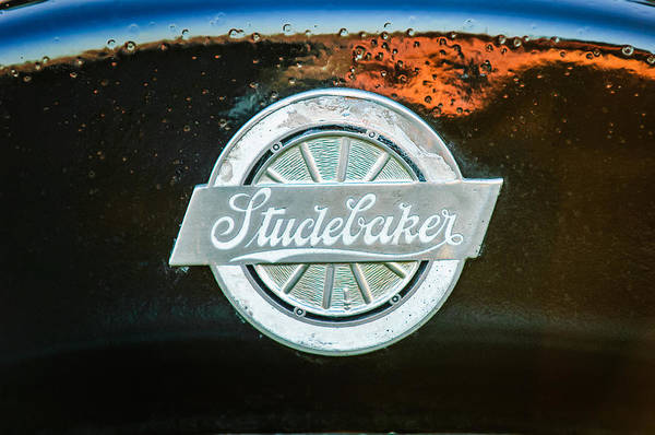 Photograph - 1922 Studebaker Logo -0325c by Jill Reger