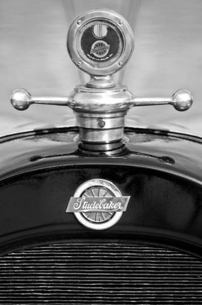Car Part Photograph - 1922 Studebaker Touring Hood Ornament 3 by Jill Reger
