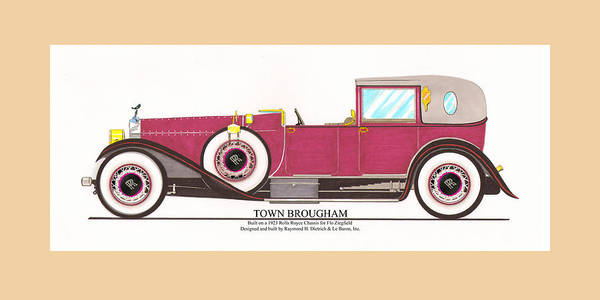 Classic Car Drawings Painting - Rolls Royce By Raymond H Dietrich by Jack Pumphrey