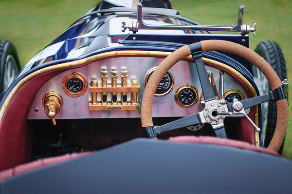 Photograph - 1925 Aston Martin 16 Valve Twin Cam Grand Prix Steering Wheel -0790c by Jill Reger