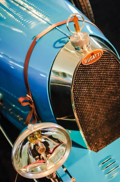 Photograph - 1925 Bugatti Type 35 Grand Prix Grille Emblem - Hood Ornament by Jill Reger