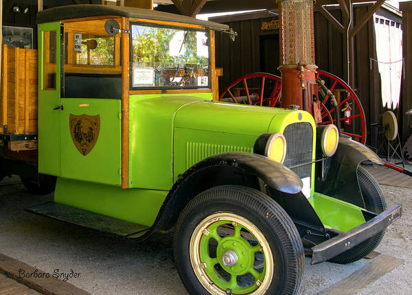Photograph - 1925 Graham Truck Close Up by Barbara Snyder