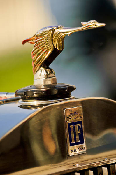 Photograph - 1925 Isotta Fraschini Tipo 8a S Corsica Boattail Speedster Hood Ornament by Jill Reger