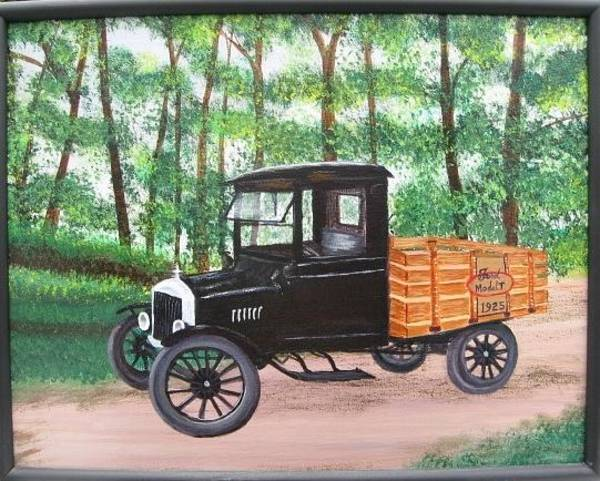 Painting - 1925 Model T Ford by Lorraine Bradford
