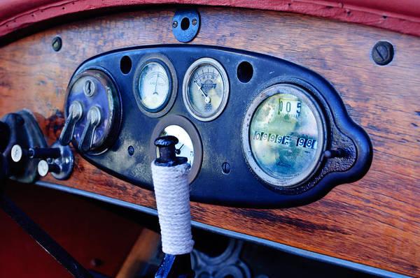 Photograph - 1925 Stutz Series 695h Speedway Six Torpedo Tail Speedster Dashboard Instruments by Jill Reger