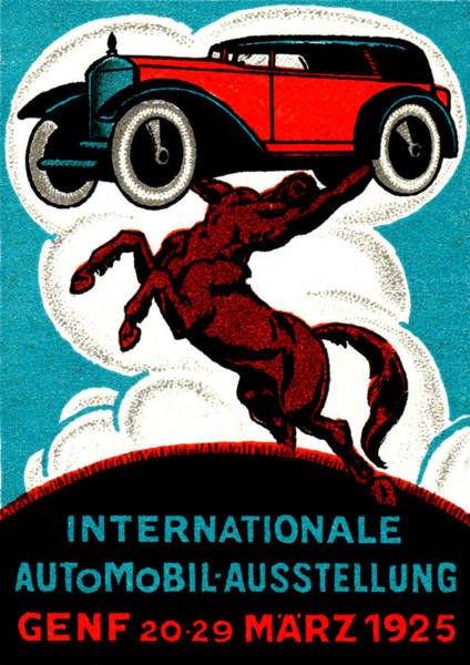 Historic Car Painting - 1925 Swiss International Car Show by Historic Image