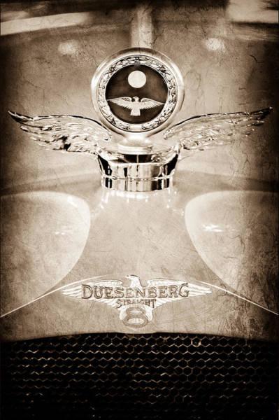 Photograph - 1926 Duesenberg Model A Boyce Motometer - Hood Ornament by Jill Reger