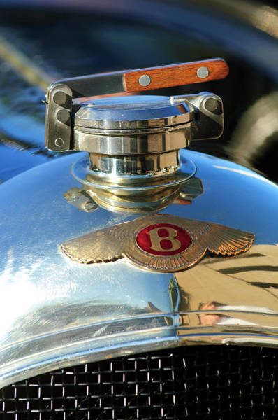 Hoodies Photograph - 1927 Bentley Hood Ornament by Jill Reger