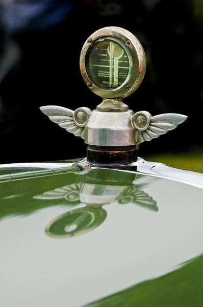 Chandler Photograph - 1927 Chandler 4-door Hood Ornament by Jill Reger
