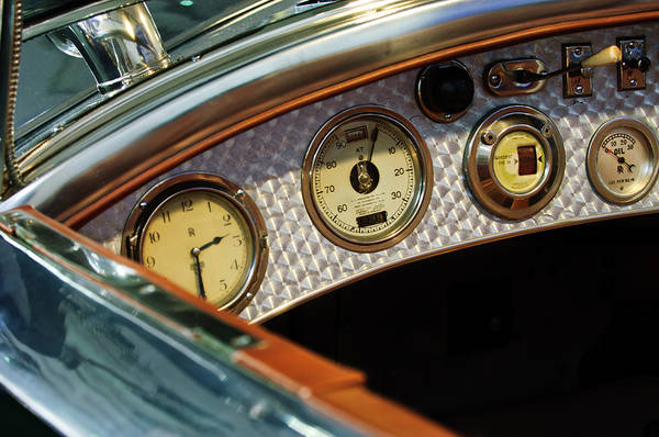 Photograph - 1927 Rolls-royce Phantom I Tourer Dashboard Gauges by Jill Reger