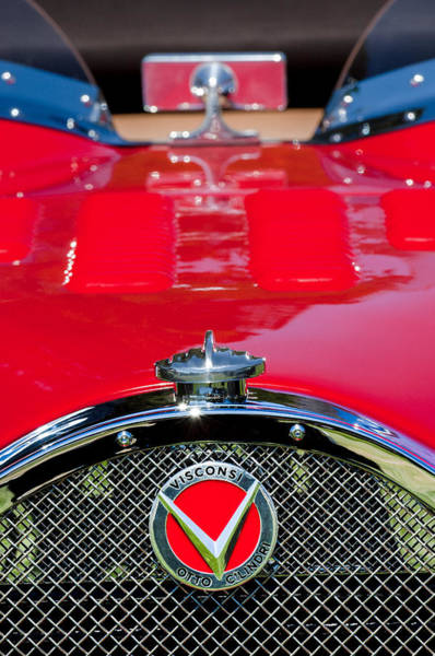 Photograph - 1927 Visconsi Otto Cilindria Grille Emblem by Jill Reger