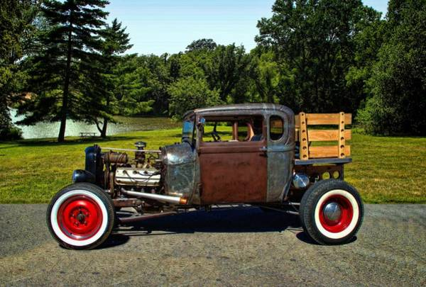 Photograph - 1928 Ford Model A Pickup Rat Rod by Tim McCullough