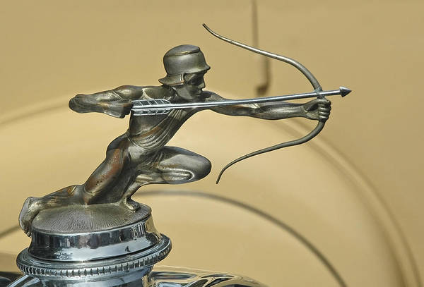 1928 Pierce Arrow Helmeted Archer Hood Ornament Art Print