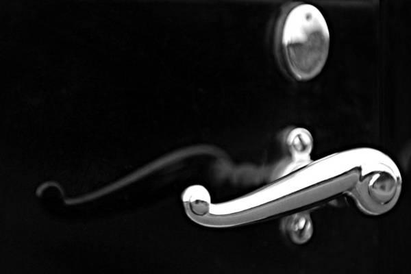 Car Part Photograph - 1928 Rolls-royce Phantom 1 Door Handle Black And White by Jill Reger