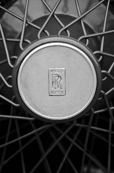 Car Part Photograph - 1928 Rolls-royce Spoke Wheel by Jill Reger