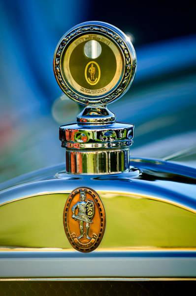 Photograph - 1928 Sterns-knight Roadster  Hood Ornament - Emblem -0895c by Jill Reger