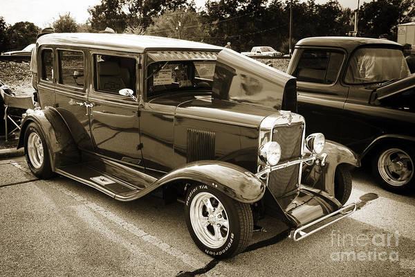 Photograph - 1929 Chevrolet Classic Car Automobile Sepia 3132.01 by M K Miller