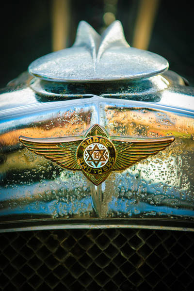 Photograph - 1929 Dodge Sedan Hood Emblem 2 by Jill Reger