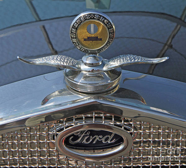 Photograph - 1929 Ford Hood Ornament by Kevin McCarthy