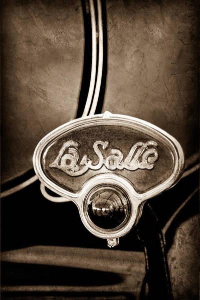 Brake Wall Art - Photograph - 1929 La Salle Brake Light Emblem by Jill Reger