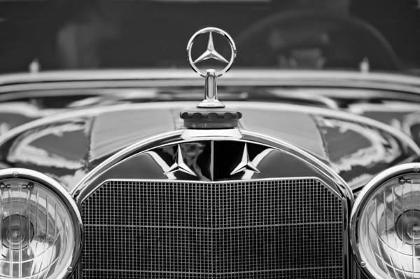 Photograph - 1929 Mercedes-benz S Erdmann - Rossi Cabiolet Hood Ornament by Jill Reger