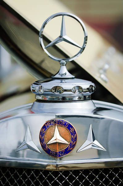 Photograph - 1929 Mercedes-benz Ss Barker Roadster Hood Ornament - Emblem by Jill Reger