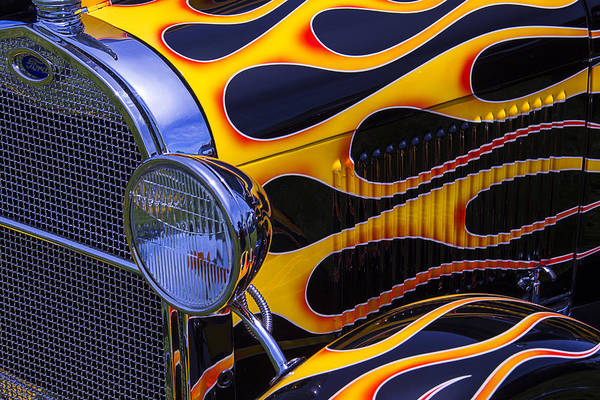 1929 Photograph - 1929 Model A 2 Door Sedan With Flames by Garry Gay
