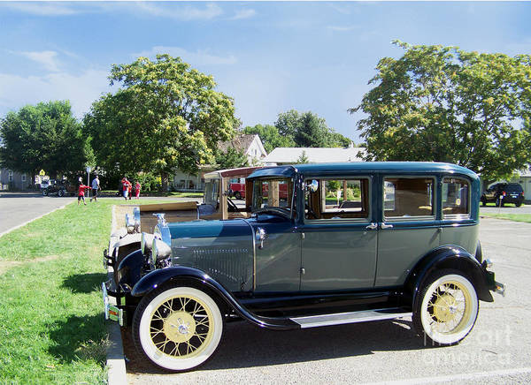 Photograph - 1929 Model A Ford Fordor Town Car by Charles Robinson
