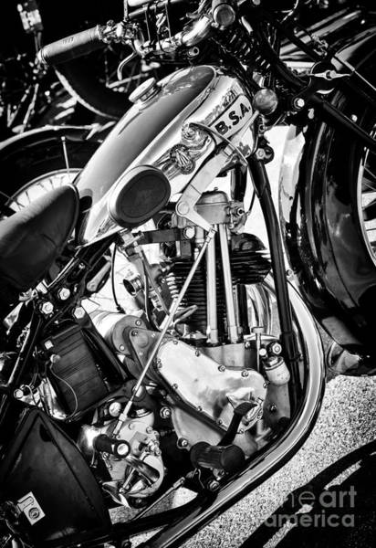 Photograph - 1930 Bsa 500cc Sloper Monochrome  by Tim Gainey