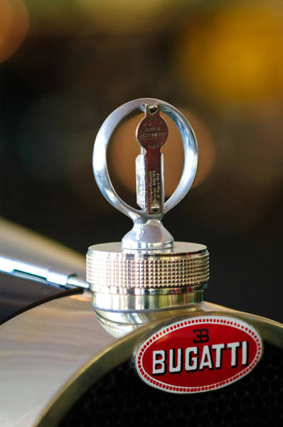 Auto Show Photograph - 1930 Bugatti Type 43 Supercharged Sports Hood Ornament by Jill Reger