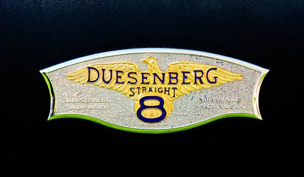 Photograph - 1930 Duesenberg Model J Lwb Dual Cowl Phaeton Emblem by Jill Reger