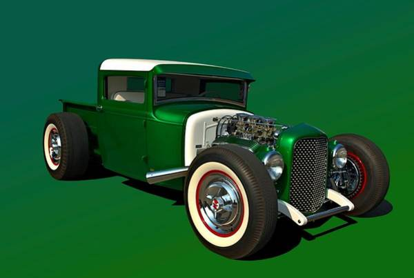 Photograph - 1930 Ford Custom Hot Rod Pickup by Tim McCullough