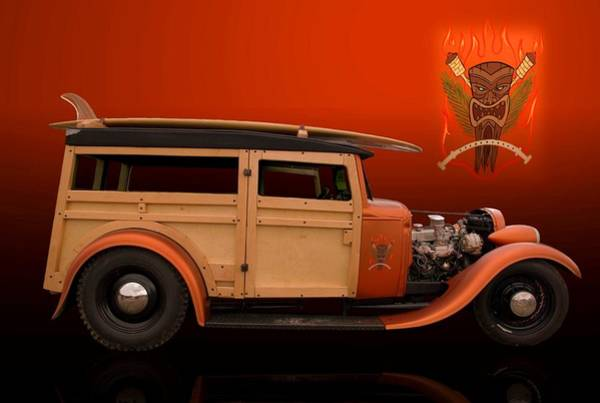 Photograph - 1929 Ford Model A Woody by Tim McCullough