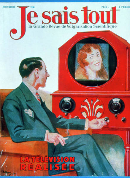 Wall Art - Photograph - 1930 Magazine Cover; The Realisation Of Television by Jean-loup Charmet/science Photo Library