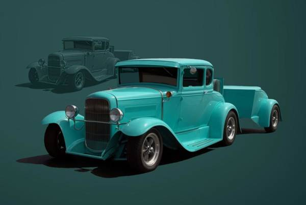 Photograph - 1930 Model A Ford Hot Rod With Trailer by Tim McCullough
