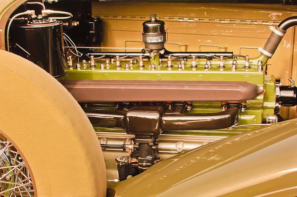 Photograph - 1930 Packard Speedster Runabout Engine -0539c by Jill Reger