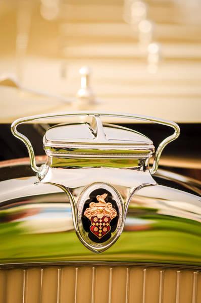 Photograph - 1930 Packard Speedster Runabout Hood Emblem -2520c by Jill Reger