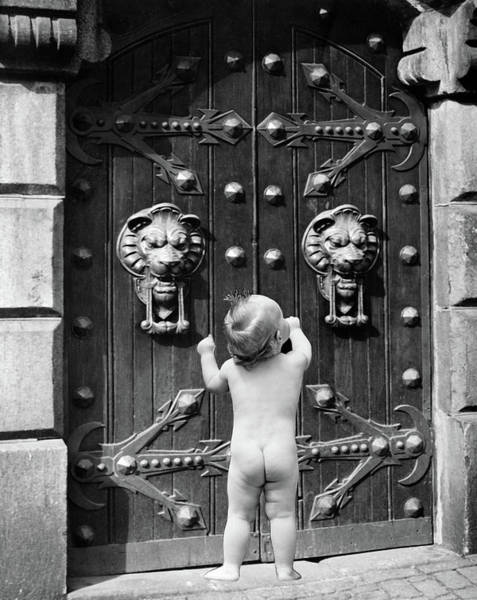 Back Door Painting - 1930s 1940s 1950s 1960s Symbolic by Vintage Images