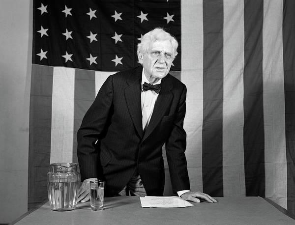 Public Speaker Photograph - 1930s 1940s Elderly Man Standing by Vintage Images