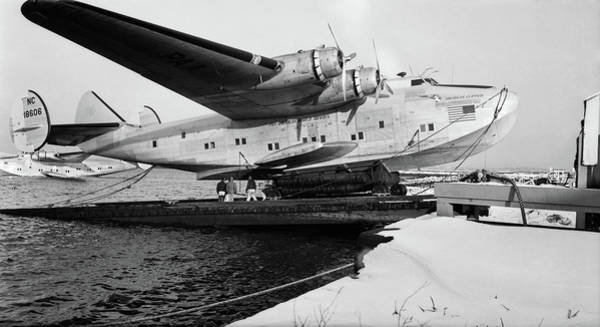 Dry Dock Photograph - 1930s 1940s Pan American Airways Flying by Vintage Images