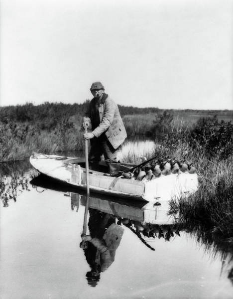 Duck Hunt Photograph - 1930s 1940s Senior Man Duck Hunter by Animal Images
