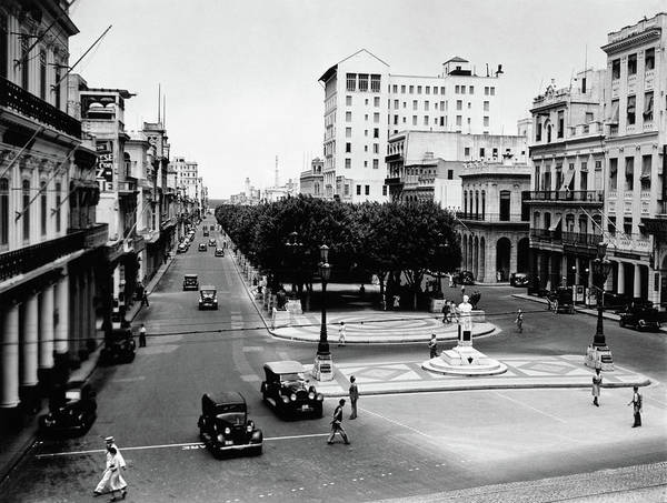 Prado Photograph - 1930s 1940s Street Scene Of The Prado by Vintage Images